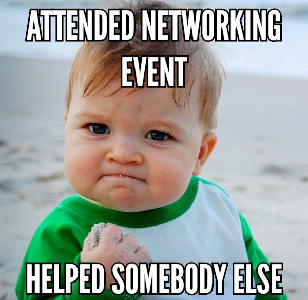 Sacramento Networking Event Meme