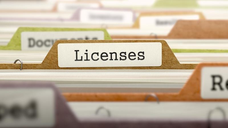 business license folder
